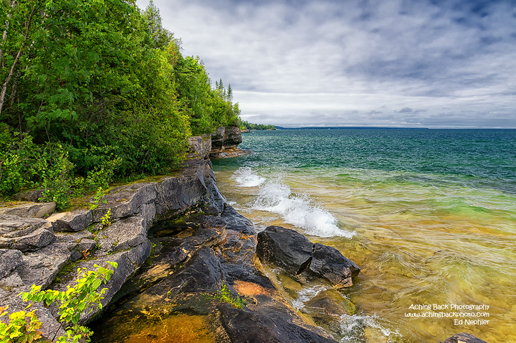 View along the shores of Lake Superior